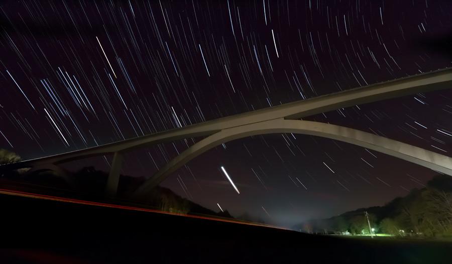 Star Trails - Natchez Trace Parkway Bridge Nashville TN