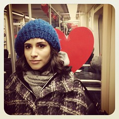 Valentines spirit on septa w/ @perezchews