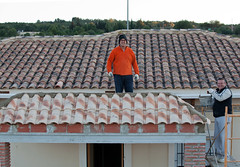 roofer, roof, brickwork,