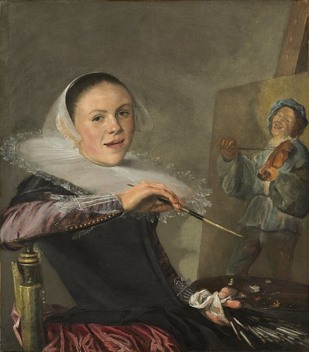 Judith Leyster - Self-Portrait [c.1630] by Gandalf's Gallery