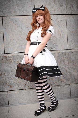 Black  and white Sailor Lolita
