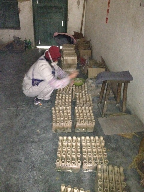 Workers Making Barrages In The Fireworks Factory  - Epic Fireworks China Trip 2012