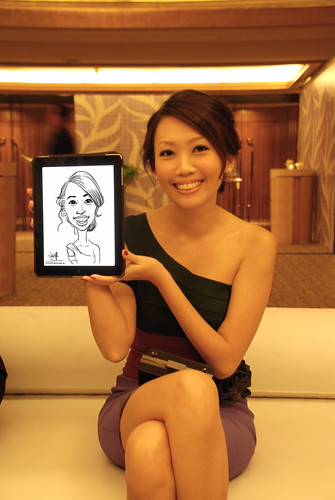 digital iPad2 live sketching for Great Eastern Dinner and Dance - 1