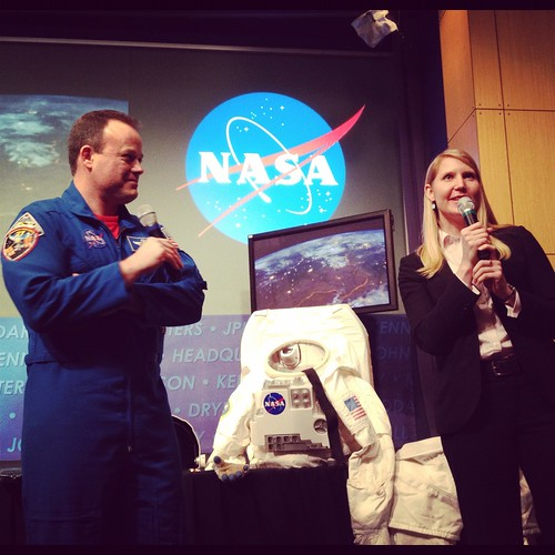 Astronaut Ron Garan and Stephanie Shierholz