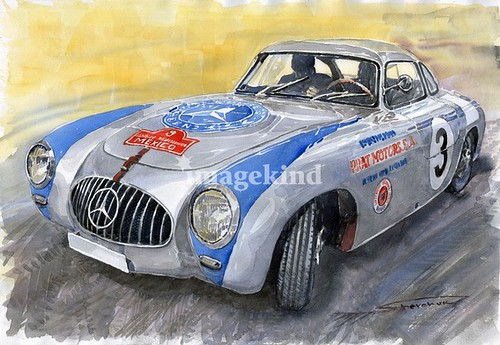 Mercedes-Benz 300 SL 1952 Carrera Panamericana Mexico Copyright by B. Egger :: eu-moto images - internet piracy by Yuriy Shevchuk Prague - INITIATIVE FOR THE LOW ON INTELLECTUAL PROPERTY