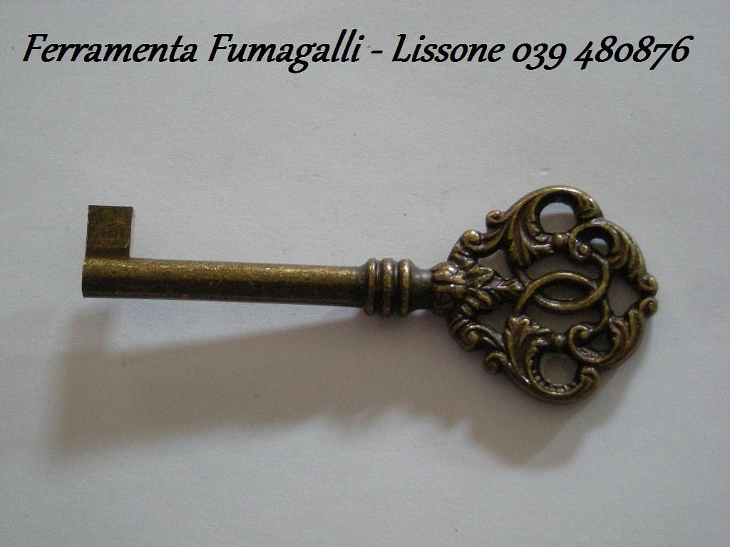 Mobili E Accessori Lissone dettagli su h0799 chiave in ottone bronzo mm 40 ferramenta restauro mobile  antico