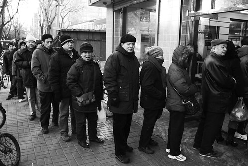 Waiting for food in Beijing