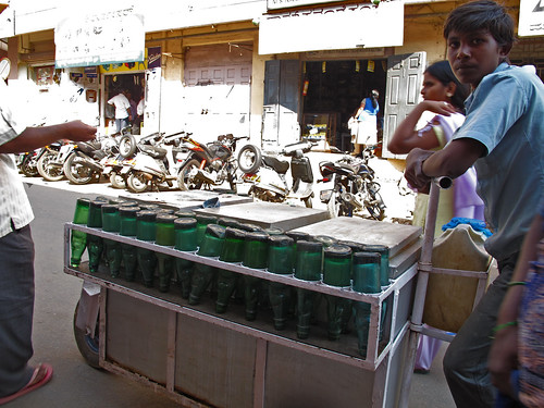 Lemonade/soda water cart, India