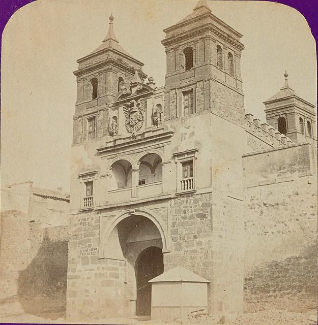 Puerta del Cambrón. Fotografía estereoscópica de Jean Andrieu en 1868 con número de serie 2644