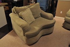 floor, furniture, loveseat, room, living room, chair, flooring,