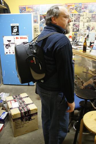 Andreas mit sw-motech Tasche