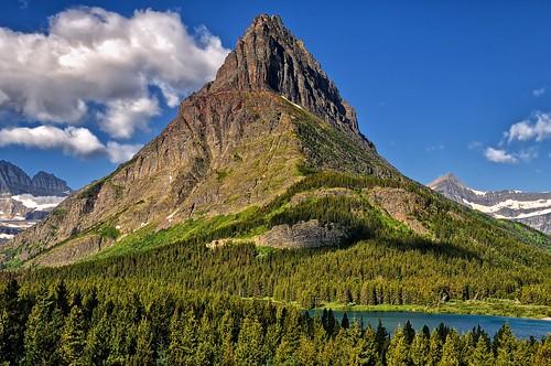 montana peaks glacierpark swiftcurrentlake manyglacier grinnellpoint