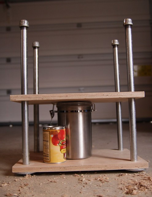 completed cheese press