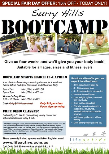 Surry Hills Bootcamps - MG Fair Day 2012