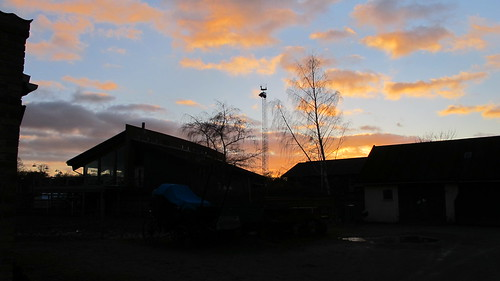 sunset at the stables