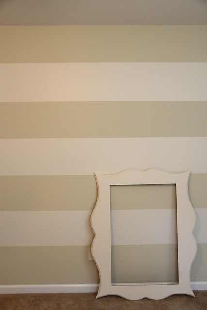 organic bloom knockoff frame on striped wall