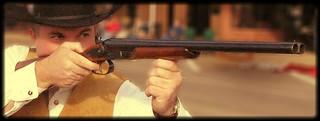 Blurred gunfighter
