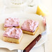 Lemon Cake Squares with Cherry Meringue Icing