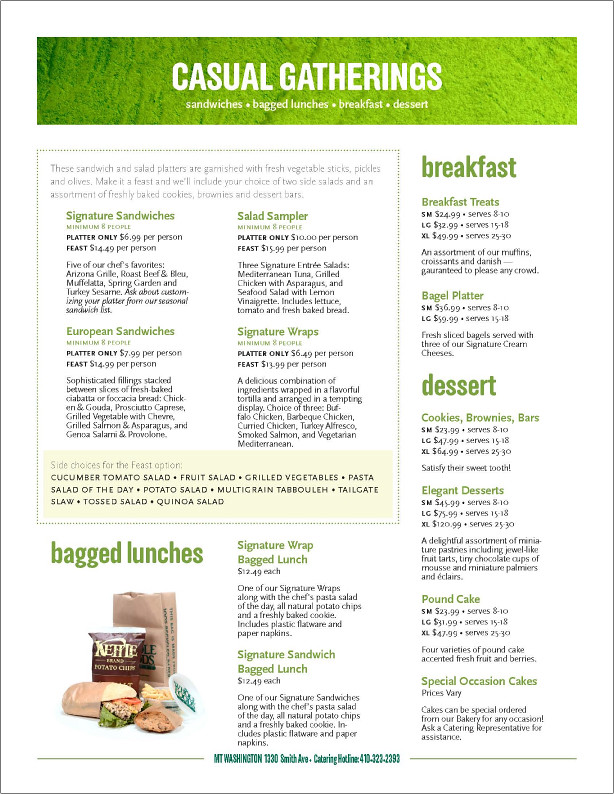 Whole Foods Catering Menu (Page 3)