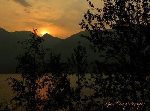 sunrise landscape lakescape