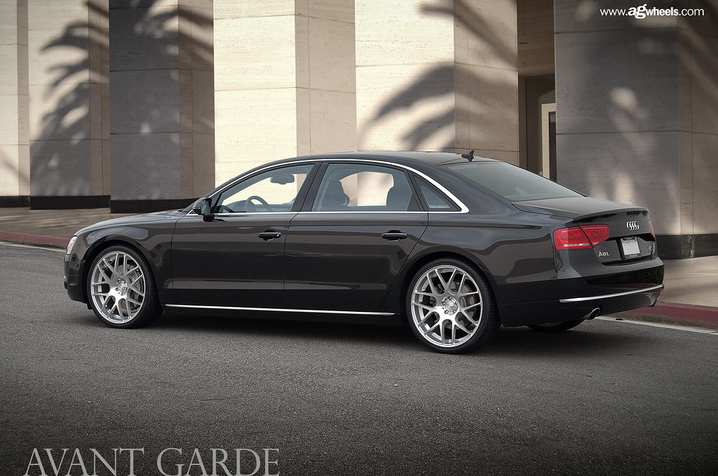 2012 Audi A8l On 22x9 Avant Garde M310 Silver With