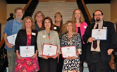Maine's Teacher of the Year nominees pose for a picture.
