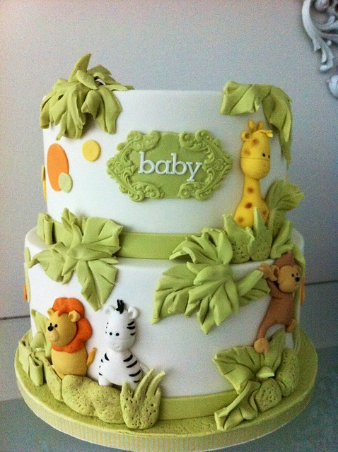 Safari Themed Fondant Birthday Cake