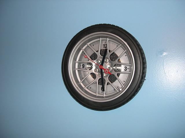 Tire clock.