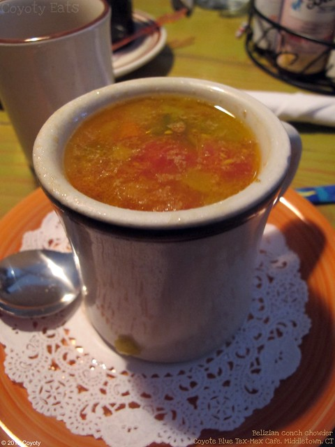 Belizian conch chowder