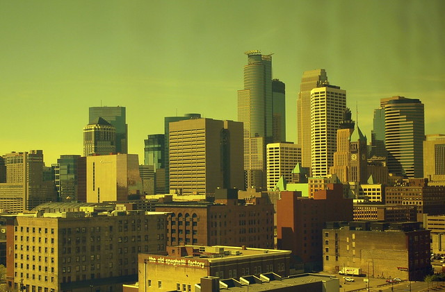 Minneapolis Skyline From the Amber Room, Guthrie Theater