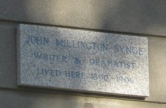 Photo of John Millington Synge stone plaque