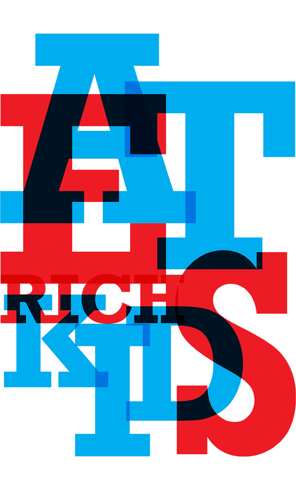 EAT RICH KIDS LETTERS