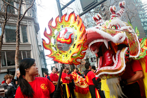 Girl Leading the Chinese Dragon