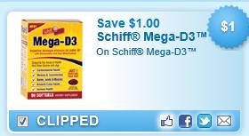 Schiff Mega-d3  Coupon