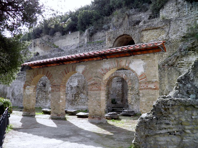 Arches of Cryptoporticus, The upper terrasse of the Villa dell'Ambulazio, Archaeological Park of Baiae, Baia