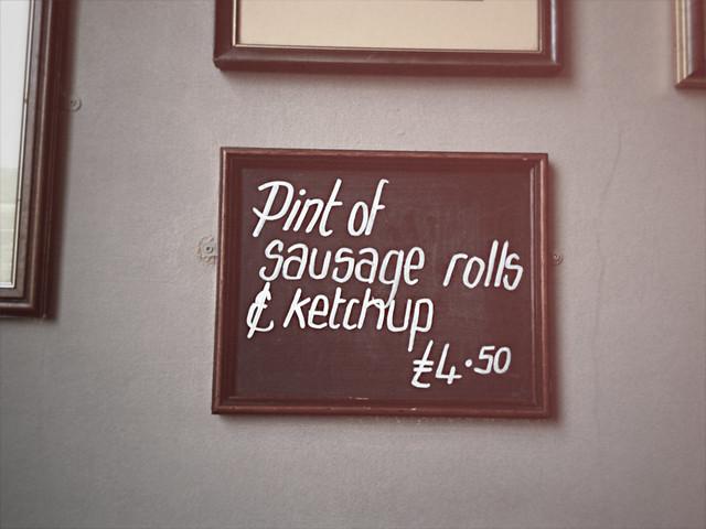 Pub menu