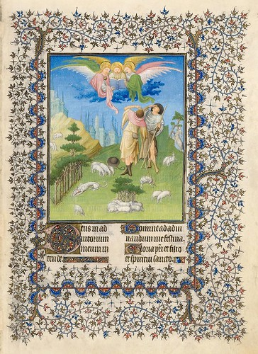 003-La anunciacion a los pastores-Belles Heures of Jean de France duc de Berry-Folio 52r- ©The Metropolitan Museum of Art