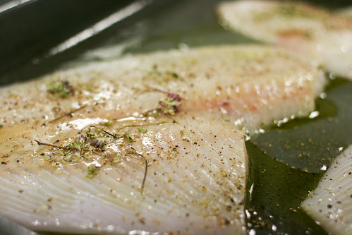Preparing plaice