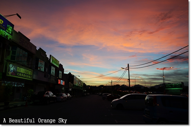 A Beautiful Orange Sky in Ipoh