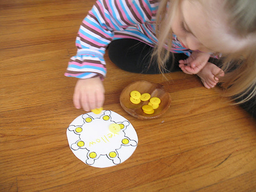 Montessori-Inspired Color- and Fine-Motor Work (Photo from We Can Do All Things)