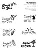 Sweet on You logo comps