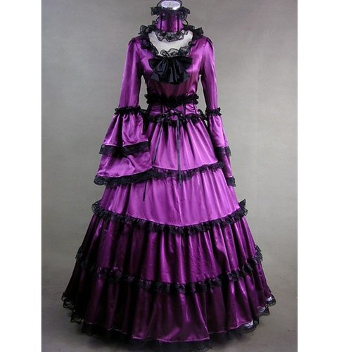 purple gothic victorian dress