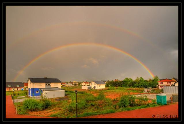 Regenbogen überm Hammerweg Weiden