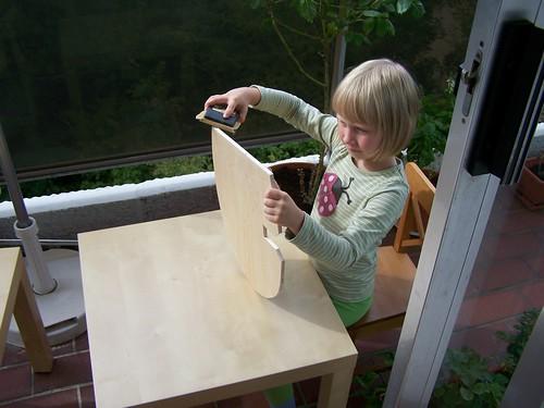 Sandpapering