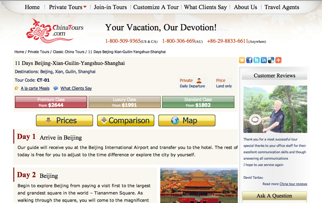 Private and Join In Tours in China