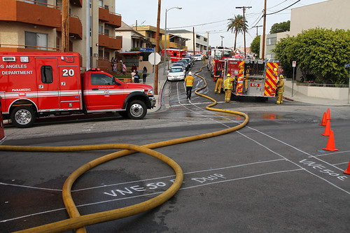 LAFD Halts Apartment Fire in Chinatown