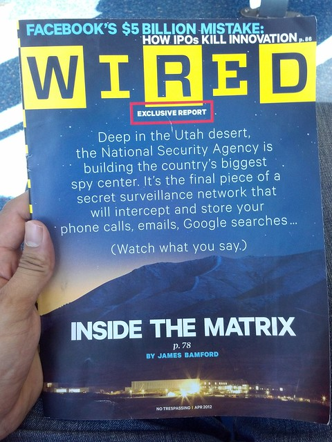 WIRED Magazine April 2012 Cover - NSA surveillance network