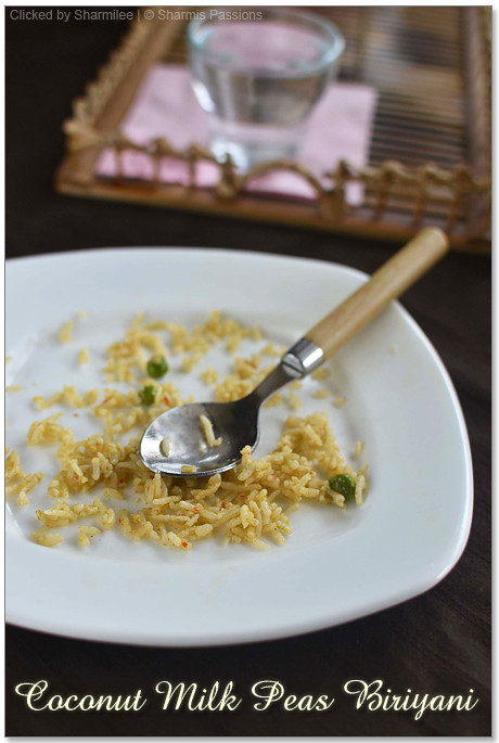 Coconut Milk Peas Biriyani Recipe