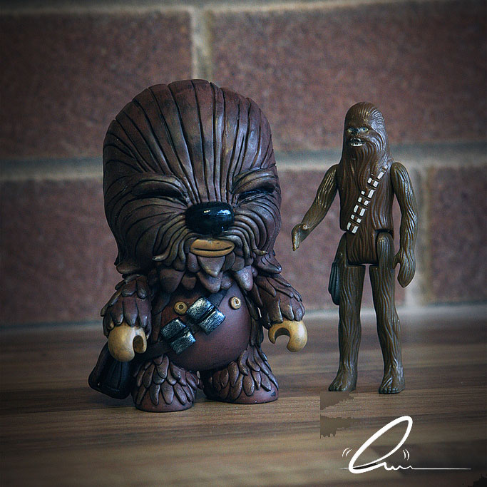Chewbacca May The 4th Be With You: Custom-Feature: Wookie Qee From Rich Page Of UME Toys (for