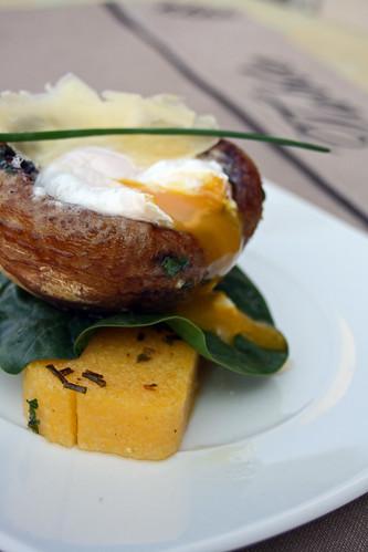 Champignons et polenta sous le gril